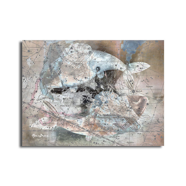 'Zodiac Study: Pisces' Oversized Canvas Wall Art