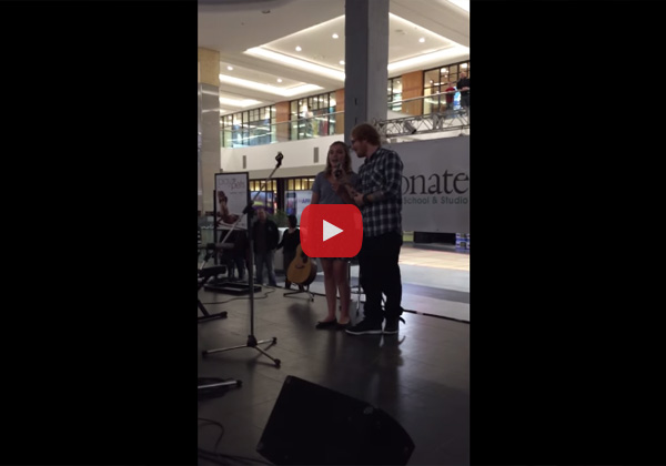 Ed Sheeran Surprises Girl Singing His Song in the Middle of the Mall