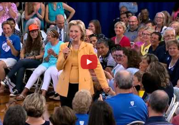 A young boy asked Hillary Clinton