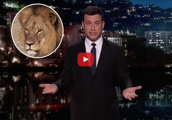 Jimmy Kimmel gets choked up over the death of Cecil the Lion