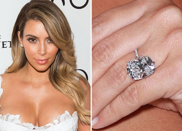 picture of kim kardashian ring from kanye west