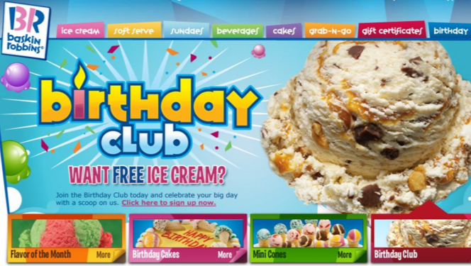 100 FREE things you can get on your Birthday