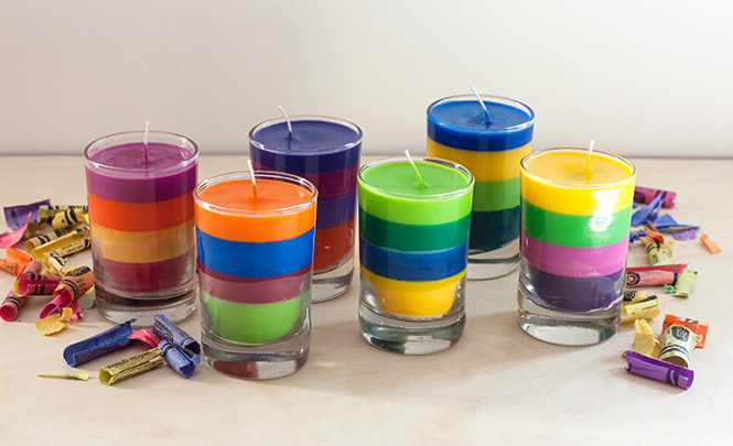 DIY Crayon Candles!