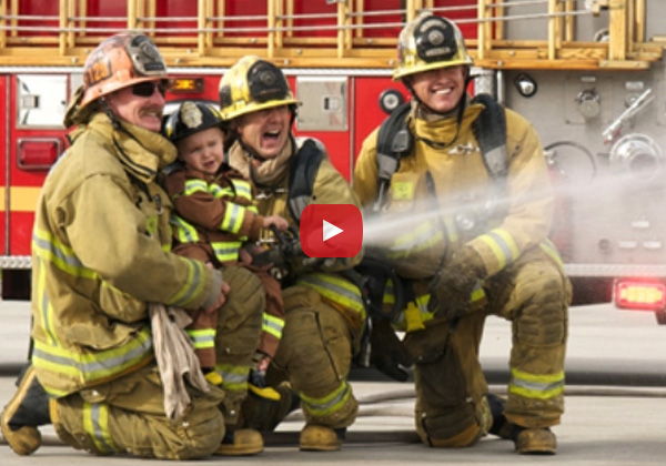 Little Boy's Dream of Becoming a Firefighter Comes True