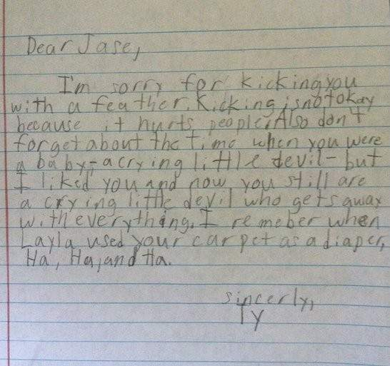 9 Apology Notes from Kids who aren't that Sorry!