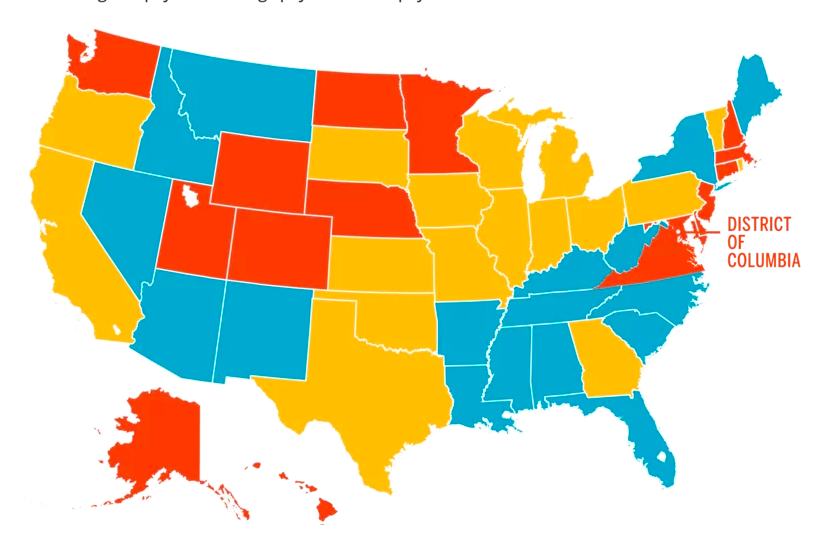 This Map Shows the Average Income in Every State—and What It's Really Worth