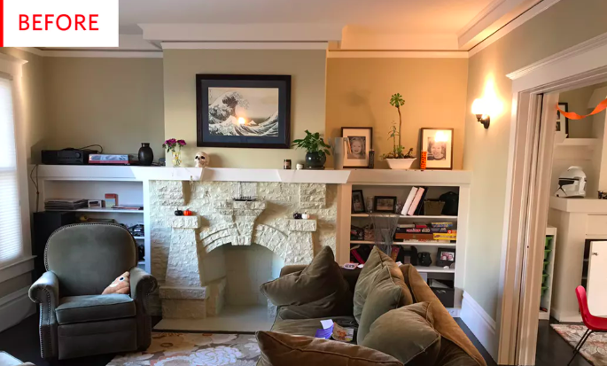 Before and After: A Pretty Jaw-Dropping Living Room Redo
