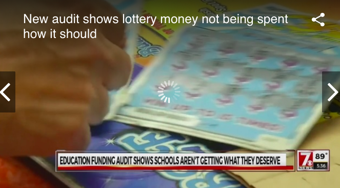 New audit shows lottery money not being spent how it should
