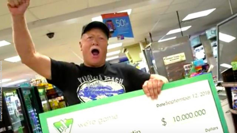 Virginia man says he won $10 million lottery after rain kept him from mowing lawn