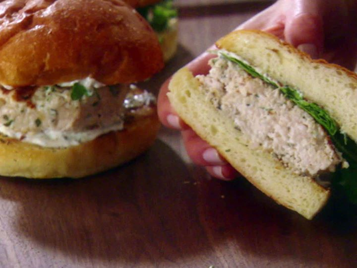 Chicken Burgers with Garlic Rosemary Mayo