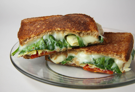 Artichoke Sun Dried Tomato Grilled  Cheese Sandwich