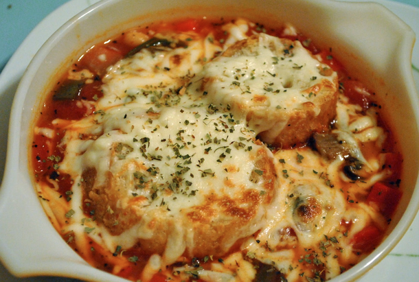 Meatball Pepperoni Pizza Soup