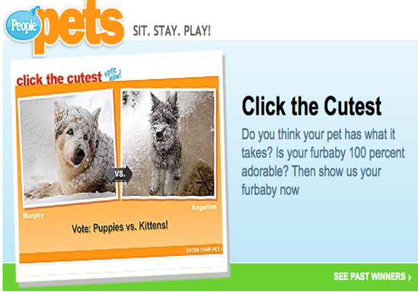 People Magazine Click the Cutest Pet Contest