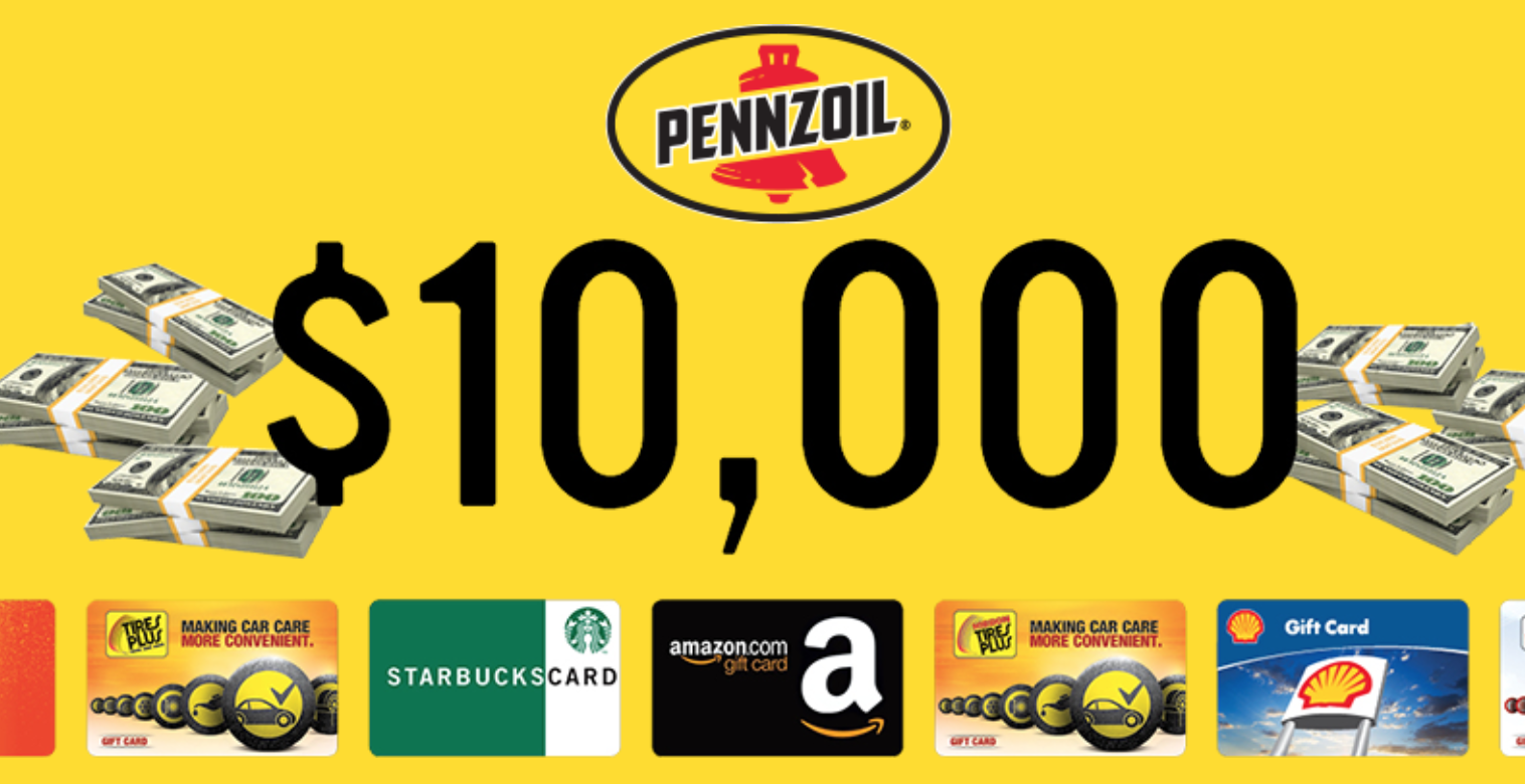 Pennzoil Bridgestone Spin to Win Sweepstakes