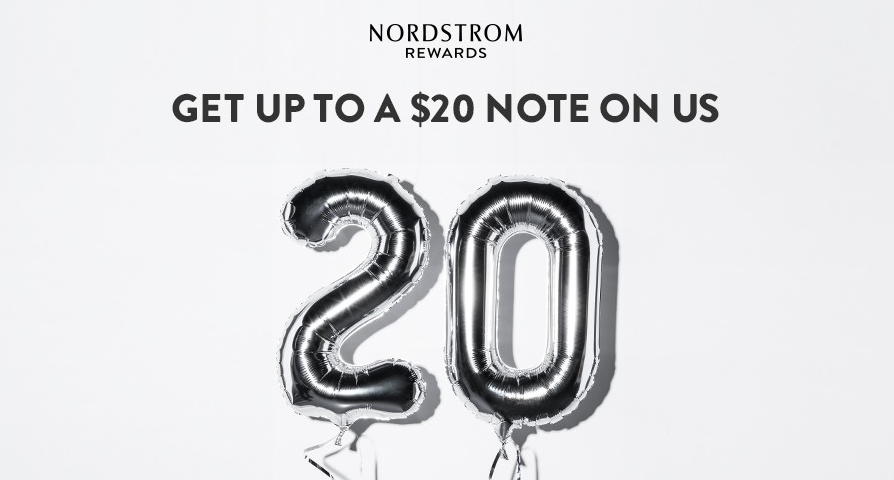 Enter Up to $20 FREE Nordstrom Certificate with Sign Up