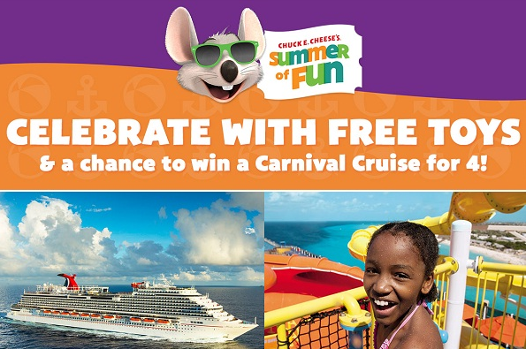Win one of ten FREE Carnival Cruise trips + Airfare