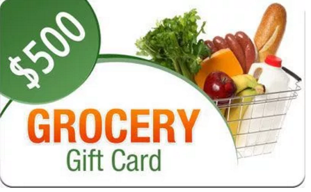 Enter  $500 Grocery Store Gift Card