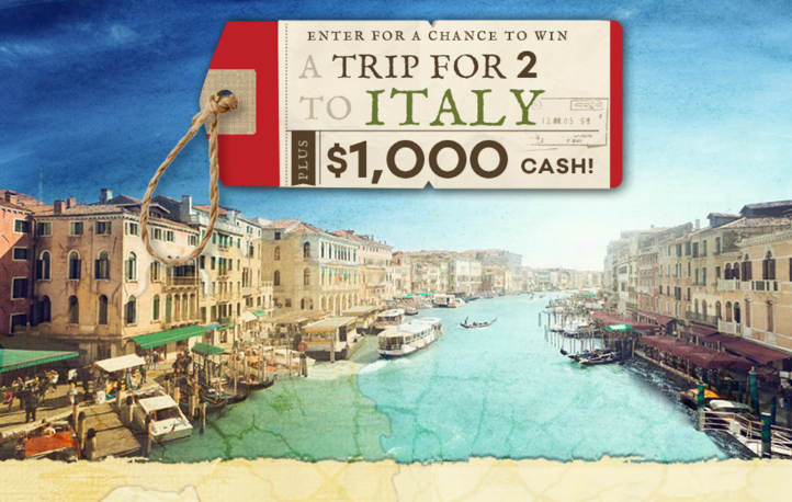 Enter Food Network - Pack Your Passport Trip To Italy