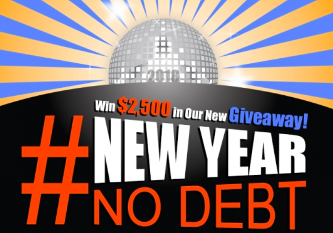 Win $2,500 New Year No Debt Sweepstakes