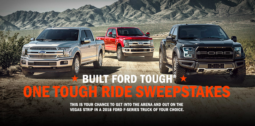 Win a Ford Car + Trip to Las Vegas