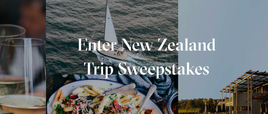 Enter Win A Trip To New Zealand Sweepstakes