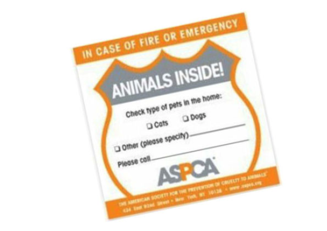 Get a FREE Pets Inside Safety Window Sticker!