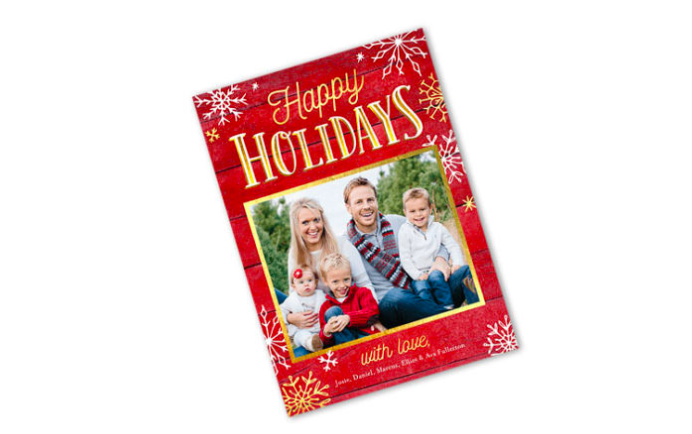 FREE Holiday Card From Shutterfly!
