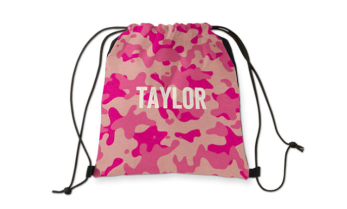 Free Personalized Drawstring Bag From Shutterfly