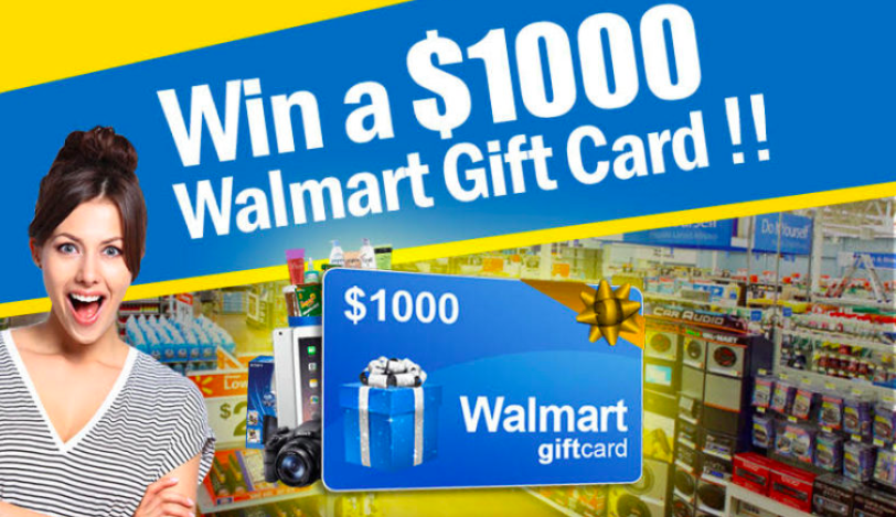 Enter to Win a $1,000 Walmart Gift Card