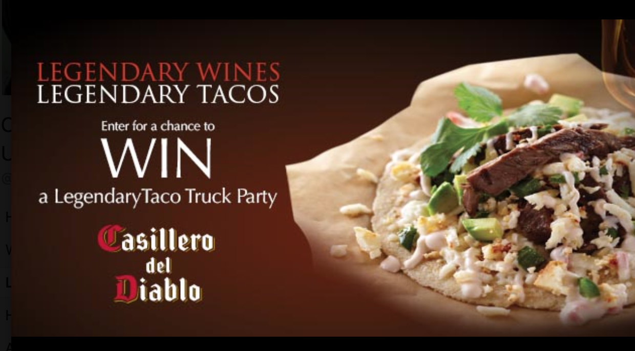 Enter Legendary Taco Truck Contest