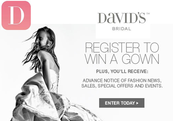 David's Bridal Free Gown Contest (Facebook)