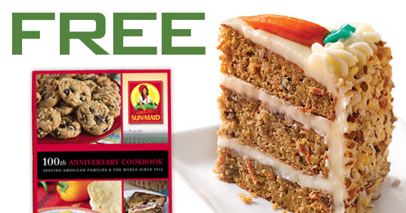 Enter Free Sun-Maid 100th Anniversary Cookbook