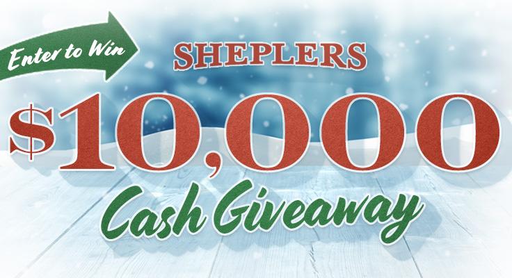 Sheplers - Win $10,000 Cash Giveaway