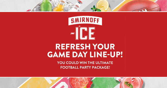 Enter Smirnoff Ice Game Day TV + Cash Sweepstakes